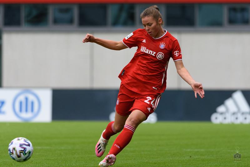Julia Pollack bei ihrem Bundesligadebüt